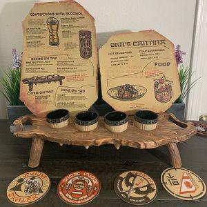 Oga's Cantina Rancor Tooth Beer Flight Board